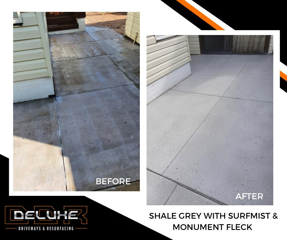 Before and After 2 - Deluxe Driveways Newcastle