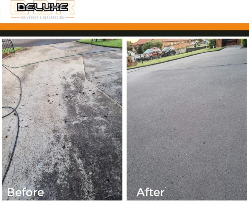 Before and After - Deluxe Driveways Newcastle